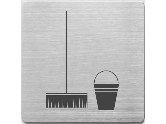 pictogram Alco RVS 90x90x1mm - poetsruimte -