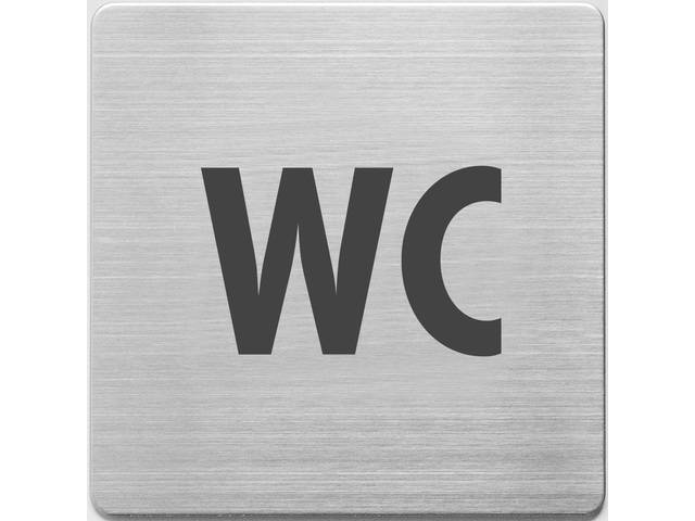 pictogram Alco RVS 90x90x1mm - WC -