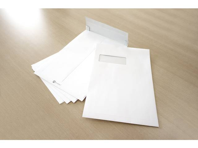 envelop Raadhuis Securitex C4 229x324x38mm venster links wit krimp 5 stuks