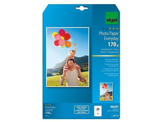 inkjetfotopapier Everyday plus A4 wit 170gr 20 vel